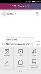 Envía fotos, videos y audio por mensaje de texto - Huawei Y3 II - Passo 11