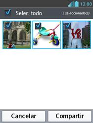Transferir fotos vía Bluetooth - LG Optimus L3 II - Passo 7