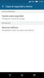 Restaura la configuración de fábrica - HTC One M9 - Passo 5
