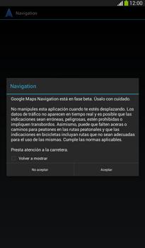 Uso de la navegación GPS - Samsung Galaxy Tab 3 7.0 - Passo 16