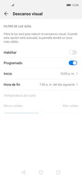 Cómo activar el modo Descanso visual para evitar la fatiga visual - Huawei Nova 5T - Passo 5