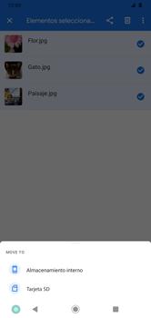 Transferir datos desde tu dispositivo a la tarjeta SD - Motorola Moto G8 Plus (Dual SIM) - Passo 9