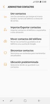 ¿Tu equipo puede copiar contactos a la SIM card? - Samsung Galaxy S9 - Passo 7