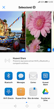 Transferir fotos vía Bluetooth - Huawei Mate 10 Pro - Passo 9
