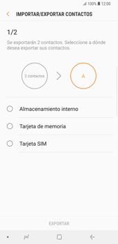 ¿Tu equipo puede copiar contactos a la SIM card? - Samsung Galaxy S9 Plus - Passo 9