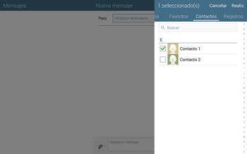 Envía fotos, videos y audio por mensaje de texto - Samsung Galaxy Note Pro - Passo 7