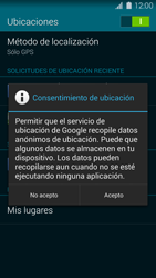 Uso de la navegación GPS - Samsung Galaxy S5 - G900F - Passo 18