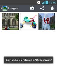 Transferir fotos vía Bluetooth - LG Optimus L3 II - Passo 11