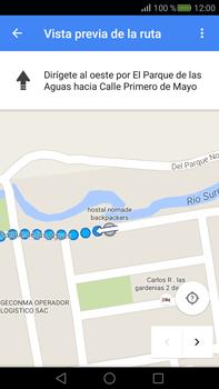 Uso de la navegación GPS - Huawei Mate S - Passo 21