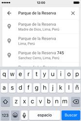 Uso de la navegación GPS - Apple iPhone 4s - Passo 10