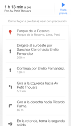 Uso de la navegación GPS - Apple iPhone 5c - Passo 23