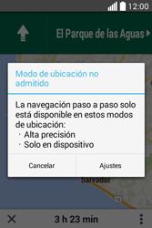 Uso de la navegación GPS - LG L40 - Passo 20