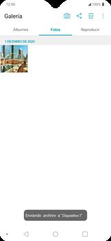 Transferir fotos vía Bluetooth - LG K50s - Passo 7
