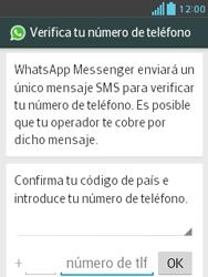 Configuración de Whatsapp - LG Optimus L3 II - Passo 5
