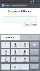 Activa o desactiva el uso del código de seguridad - LG Optimus G Pro Lite - Passo 8