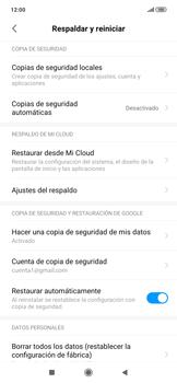 Realiza una copia de seguridad con tu cuenta - Xiaomi Redmi Note 7 - Passo 11