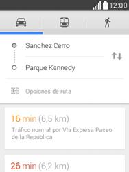 Uso de la navegación GPS - LG L20 - Passo 15