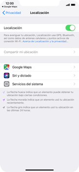 Uso de la navegación GPS - Apple iPhone XS Max - Passo 6