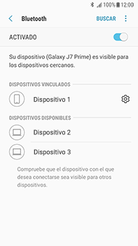 Conecta con otro dispositivo Bluetooth - Samsung Galaxy J7 Prime - Passo 9