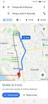 Uso de la navegación GPS - Huawei P30 Pro - Passo 15