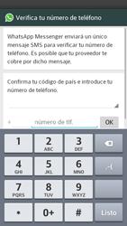 Configuración de Whatsapp - LG Optimus G Pro Lite - Passo 5