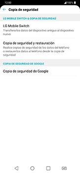 Realiza una copia de seguridad con tu cuenta - LG G7 Fit - Passo 6