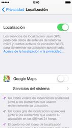 Uso de la navegación GPS - Apple iPhone 5c - Passo 8