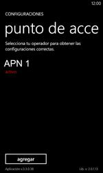 Configura el Internet - Nokia Lumia 720 - Passo 9