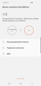 ¿Tu equipo puede copiar contactos a la SIM card? - Samsung S10+ - Passo 13
