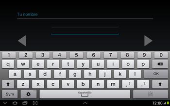 Crea una cuenta - Samsung Galaxy Note 10-1 - N8000 - Passo 6