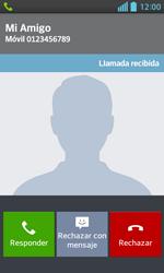 Contesta, rechaza o silencia una llamada - LG Optimus L5 II - Passo 3