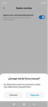 Cómo seleccionar una red en tu teléfono manualmente - Xiaomi Redmi Note 9 Pro - Passo 8