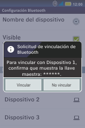 Conecta con otro dispositivo Bluetooth - Motorola MotoSmart Me  XT303 - Passo 8