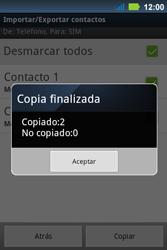 ¿Tu equipo puede copiar contactos a la SIM card? - Motorola MotoSmart Me  XT303 - Passo 11