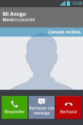 Contesta, rechaza o silencia una llamada - LG L4 II - Passo 5