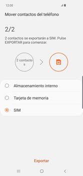 ¿Tu equipo puede copiar contactos a la SIM card? - Samsung S10+ - Passo 11