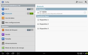 Conecta con otro dispositivo Bluetooth - Samsung Galaxy Note 10-1 - N8000 - Passo 6