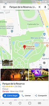 Uso de la navegación GPS - LG G7 Fit - Passo 8