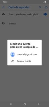 Realiza una copia de seguridad con tu cuenta - Samsung Galaxy A30 - Passo 9