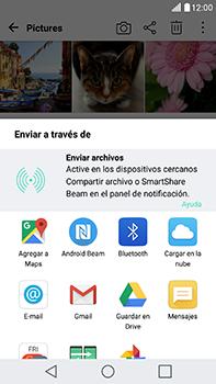 Transferir fotos vía Bluetooth - LG V20 - Passo 8