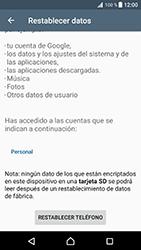 Restaura la configuración de fábrica - Sony Xperia XZ Premium - Passo 6