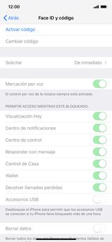 Activa o desactiva el uso del código de seguridad - Apple iPhone XR - Passo 3