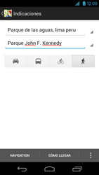 Uso de la navegación GPS - Motorola RAZR HD  XT925 - Passo 17