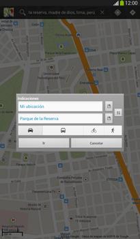 Uso de la navegación GPS - Samsung Galaxy Tab 3 7.0 - Passo 8