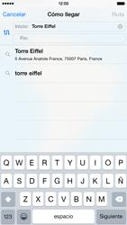 Uso de la navegación GPS - Apple iPhone 6 - Passo 5