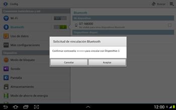 Conecta con otro dispositivo Bluetooth - Samsung Galaxy Note 10-1 - N8000 - Passo 7