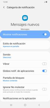 Modo silencio y vibración para mensajes - Samsung Galaxy A30 - Passo 11