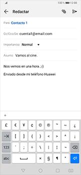 Cómo enviar un correo electrónico - Huawei P30 Pro - Passo 10