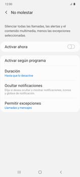 Cómo configurar el modo no molestar - Samsung Galaxy S10 Lite - Passo 20