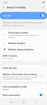Cómo activar Always on Display - Samsung Galaxy S10 Lite - Passo 8